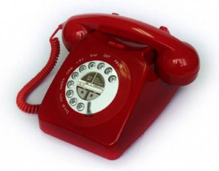 Seniorentelefon im Retrodesign Geemarc Mayfair Rot