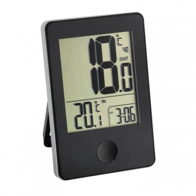 Funk-Thermometer Pop Schwarz