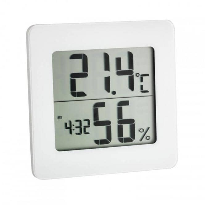 Digitales Thermo-Hygrometer Weiß