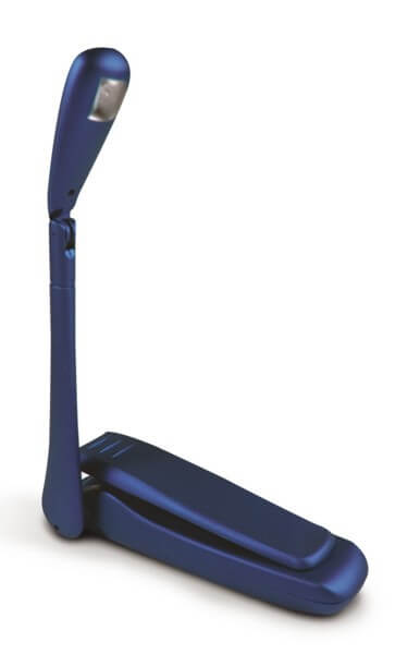 Universal-Klemmlampe Bookchair Clip-On LED Blau