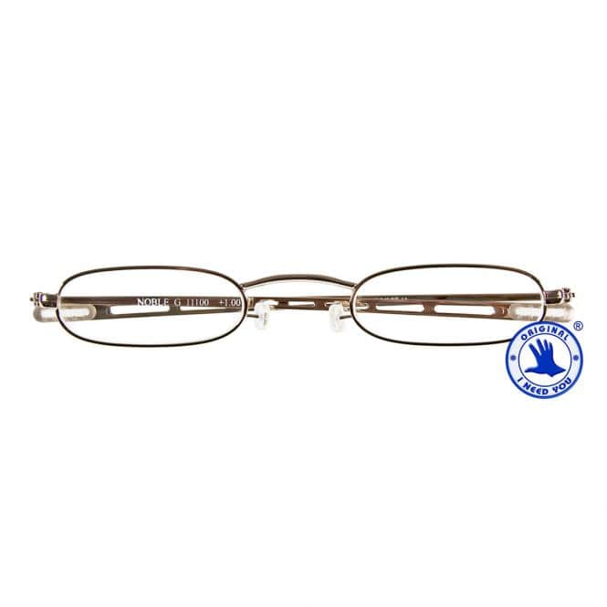 Besonders flache Reisebrille Monel 9MM Noble Gold