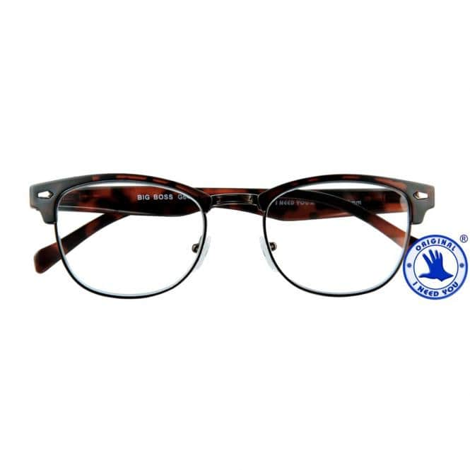 Lesebrille mit Etui Big Boss Havanna-Matt