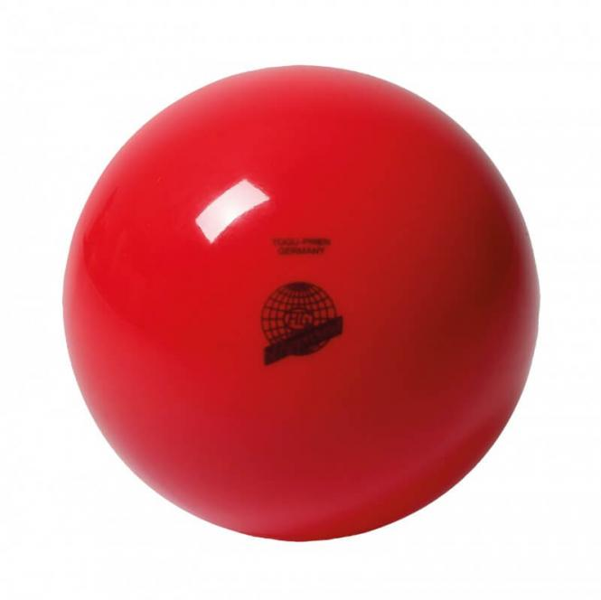 Mini-Gymnastikball Togu FIG Best Quality Lackiert 19 cm Rot