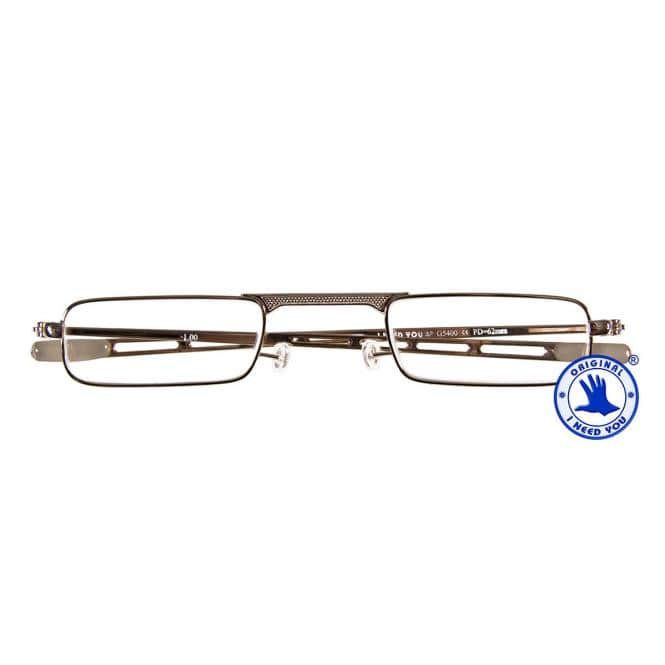 Flache Reisebrille Monel 9MM Gold