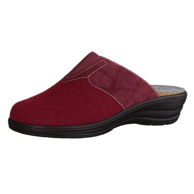 best sneakers a88fd fd402 Hausschuhe für Damen Slowlies Wollfilz 170 Bordeaux