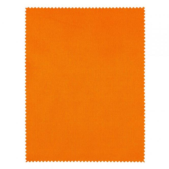 Mikrofaser Brillenputztuch 14 x 18 cm Orange