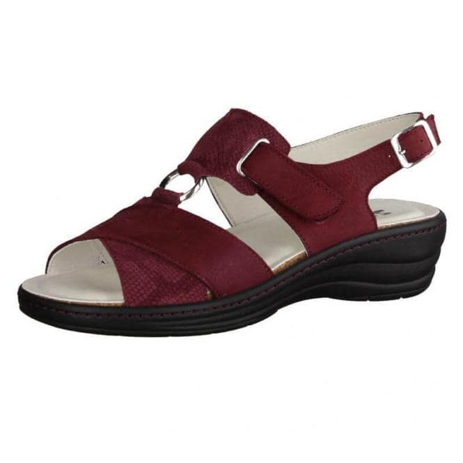 Sandaletten für Damen Slowlies Nubuk-/Lackleder 159 Bordeaux
