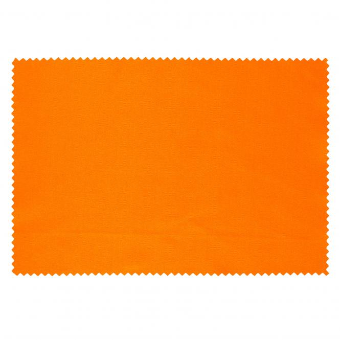 10 x Mikrofaser Brillenputztuch 12 x 17 cm Orange