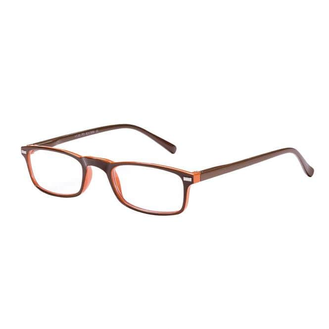 Lesebrille Victoria Evelyn Braun-Orange mit Einstecketui