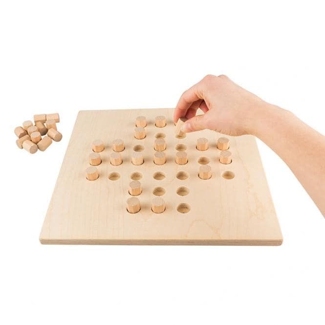 Brettspiel Holz Solitaire