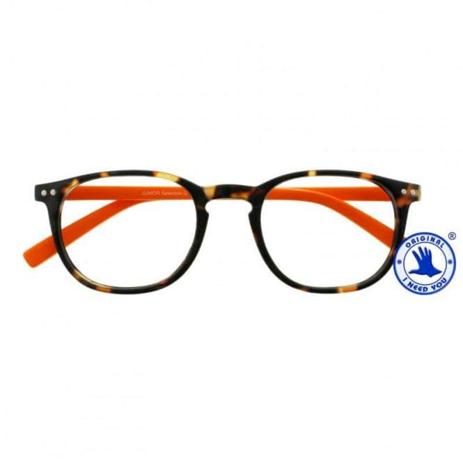 Lesebrille mit Etui Junior Selection Havanna-Orange