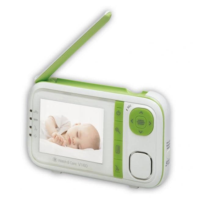 Babyphone mit Bildübertragung und Vibrationsalarm Audioline Watch & Care V160