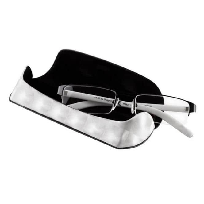 Lesebrille mit Etui Business Silber