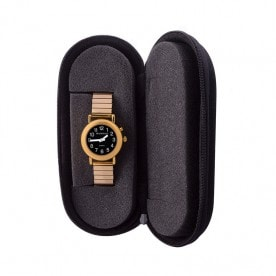 Sprechende Armbanduhr Black Edition Gold-Metall